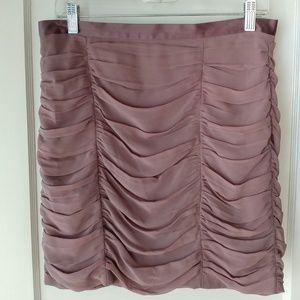 Mauve draped skirt